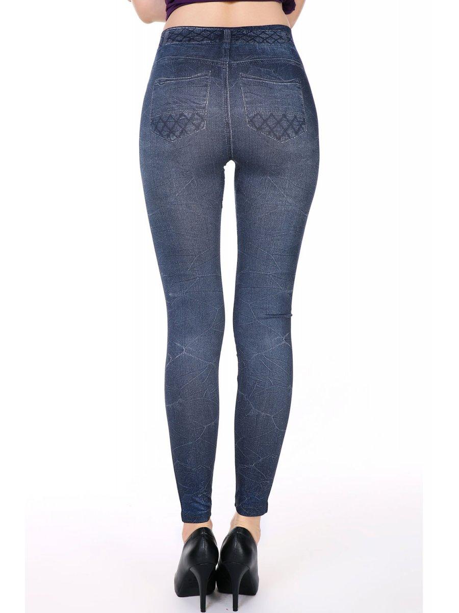 Trendy Jeans Print Skinny Leggings | E79655