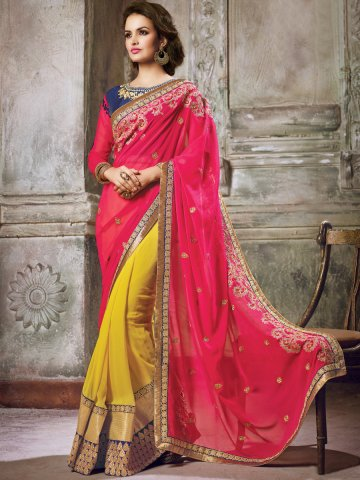 https://static9.cilory.com/153083-thickbox_default/maisha-yellow-red-heavy-saree-with-stone-work-on-blouse.jpg