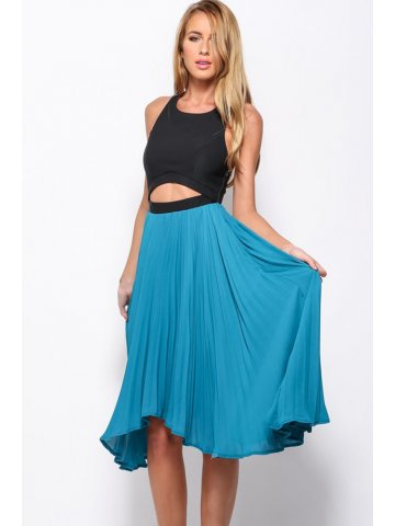 https://static1.cilory.com/159674-thickbox_default/blue-pleated-skirt-beautiful-cutout-midi-dress.jpg