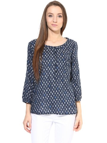 Harpa Navy Top at cilory