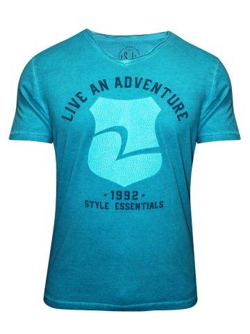 Spykar Aqua V Neck T Shirt at cilory