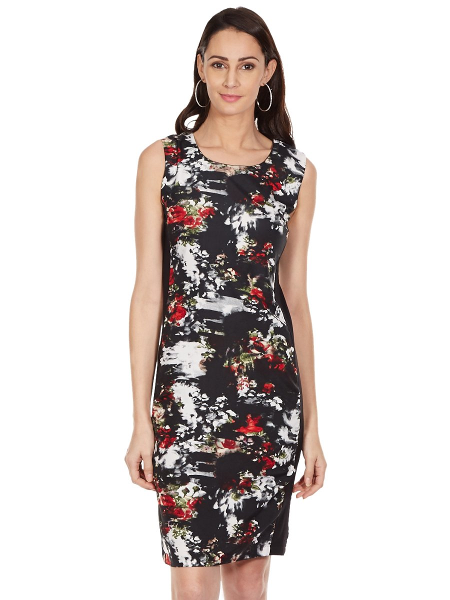 Color Cocktail Black Printed Bodycon Dress | Ccd15111238 | Cilory.com