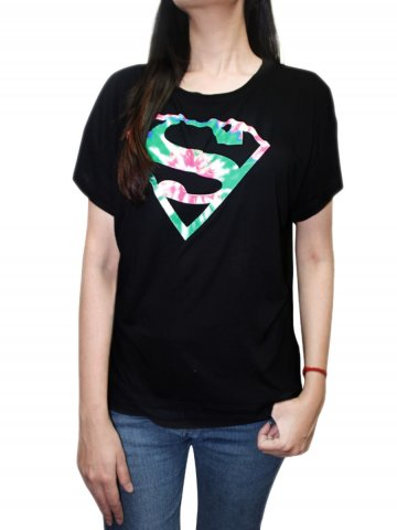 Supergirl Black Short Sleeves Tee at cilory
