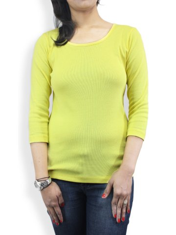 Numero Uno Yellow Full Sleeves Tee at cilory
