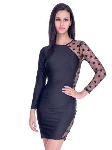 Beautiful Black Midi Bodycon Dress W373789 Cilory