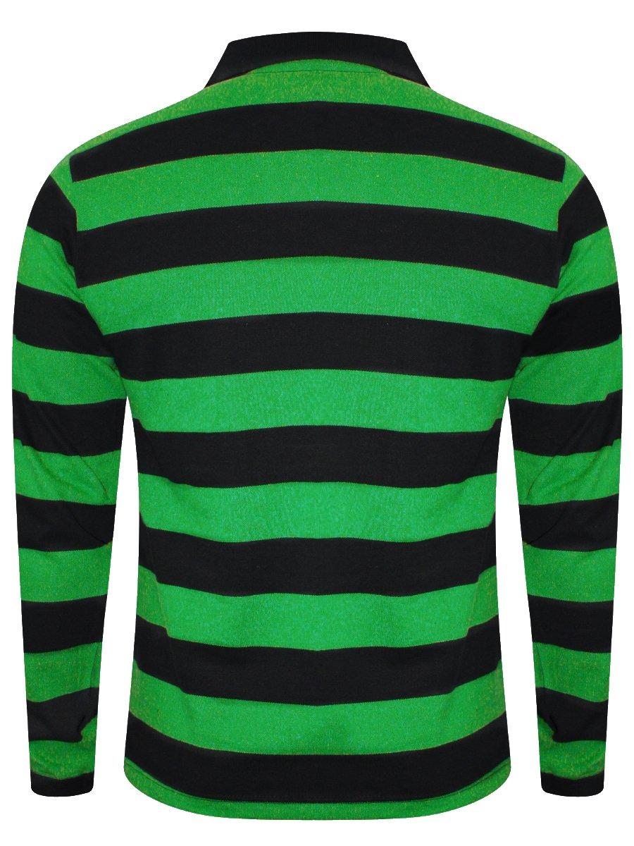 Green black striped t shirt