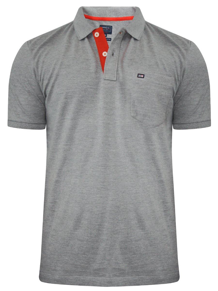 Arrow grey mellange pocket polo t shirt akts3459 for Polo t shirts with pockets