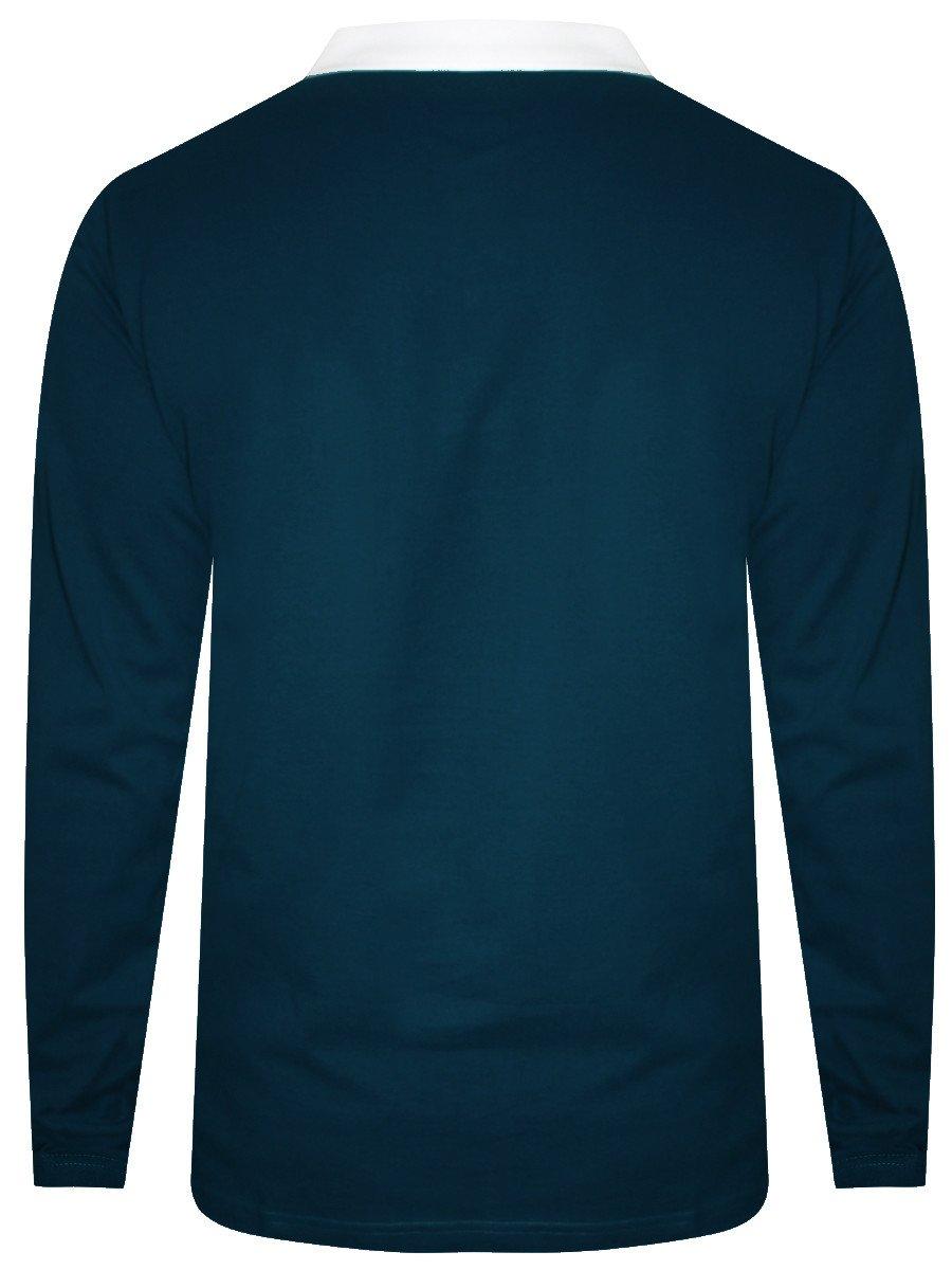 Nologo Octane Blue Polo Full Sleeves T-shirt | Nologo-pfst-161 ...