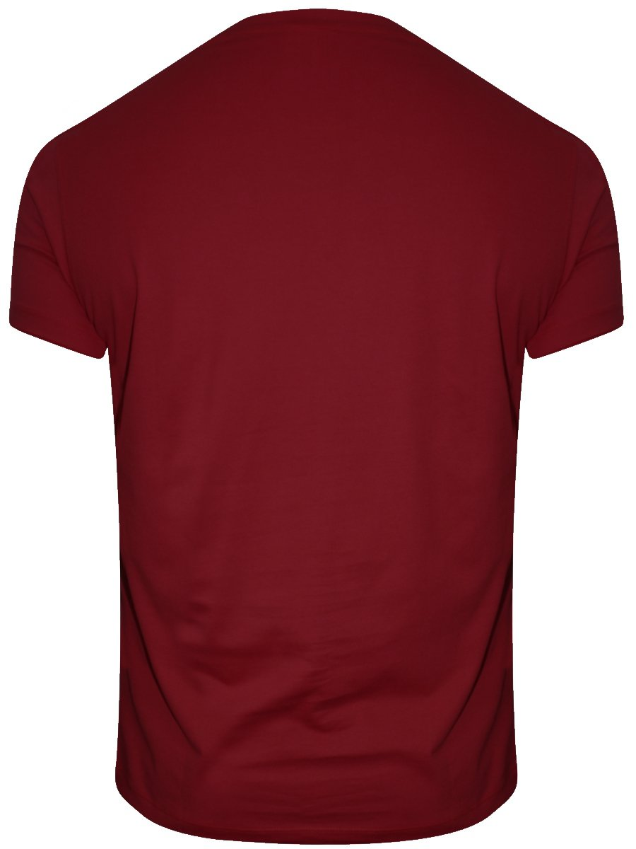 Buy T-shirts Online   Lee Maroon Round Neck T-shirt ...