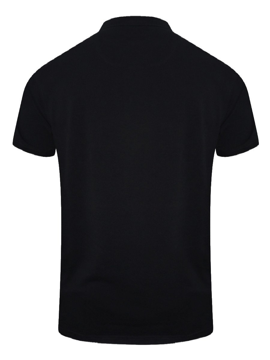 Black t shirt white collar - View Full Size