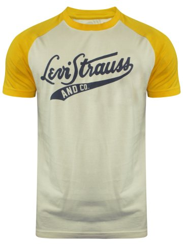 Levis Cream Round Neck T-Shirt at cilory