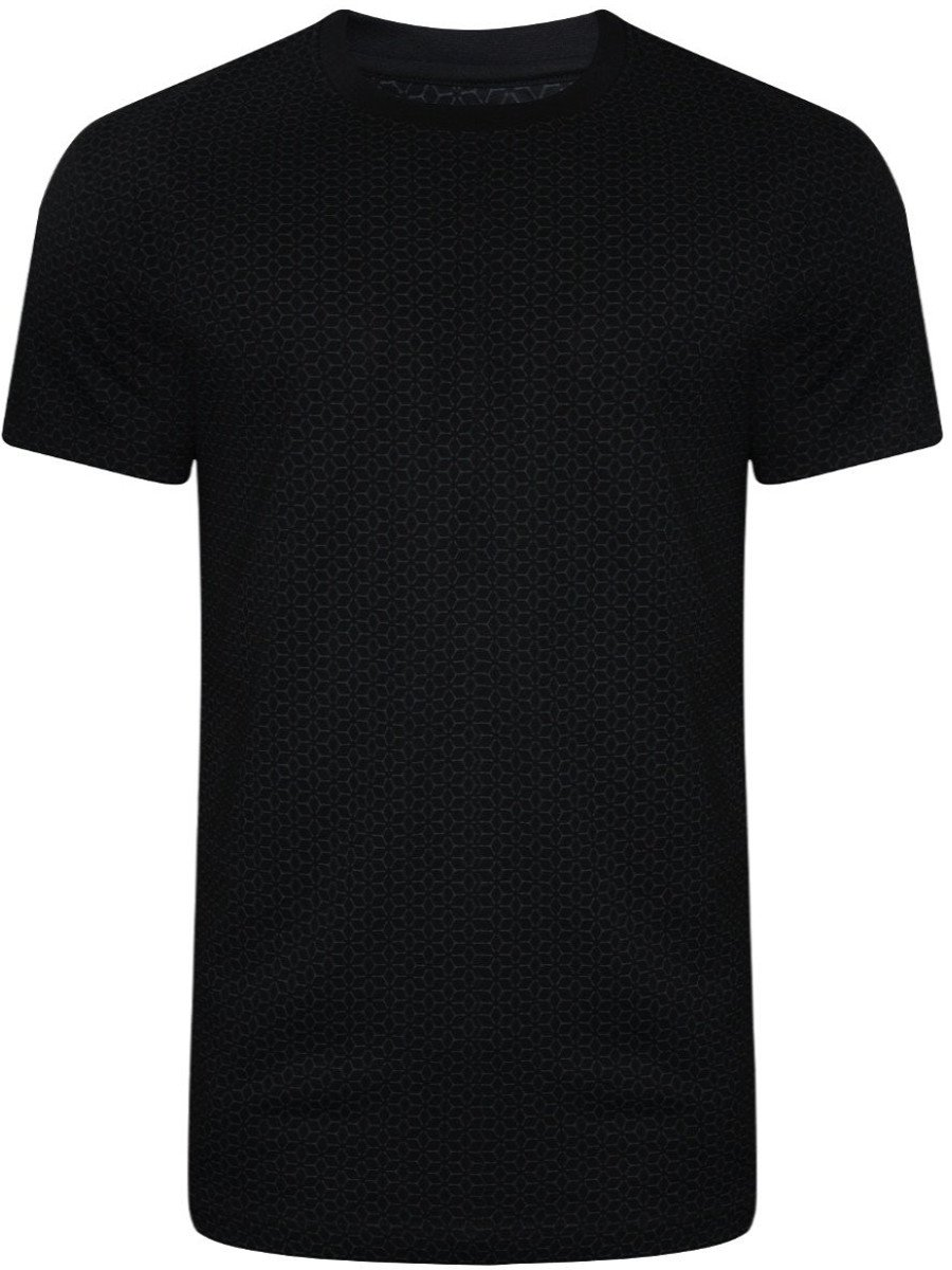 2144815a Buy T-shirts Online | Peter England Black Sports T-shirt ...