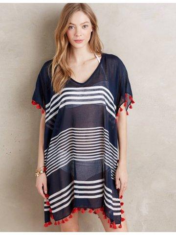 Buy Swimming Costume Online India Loose Stripe Open Fork Chiffon