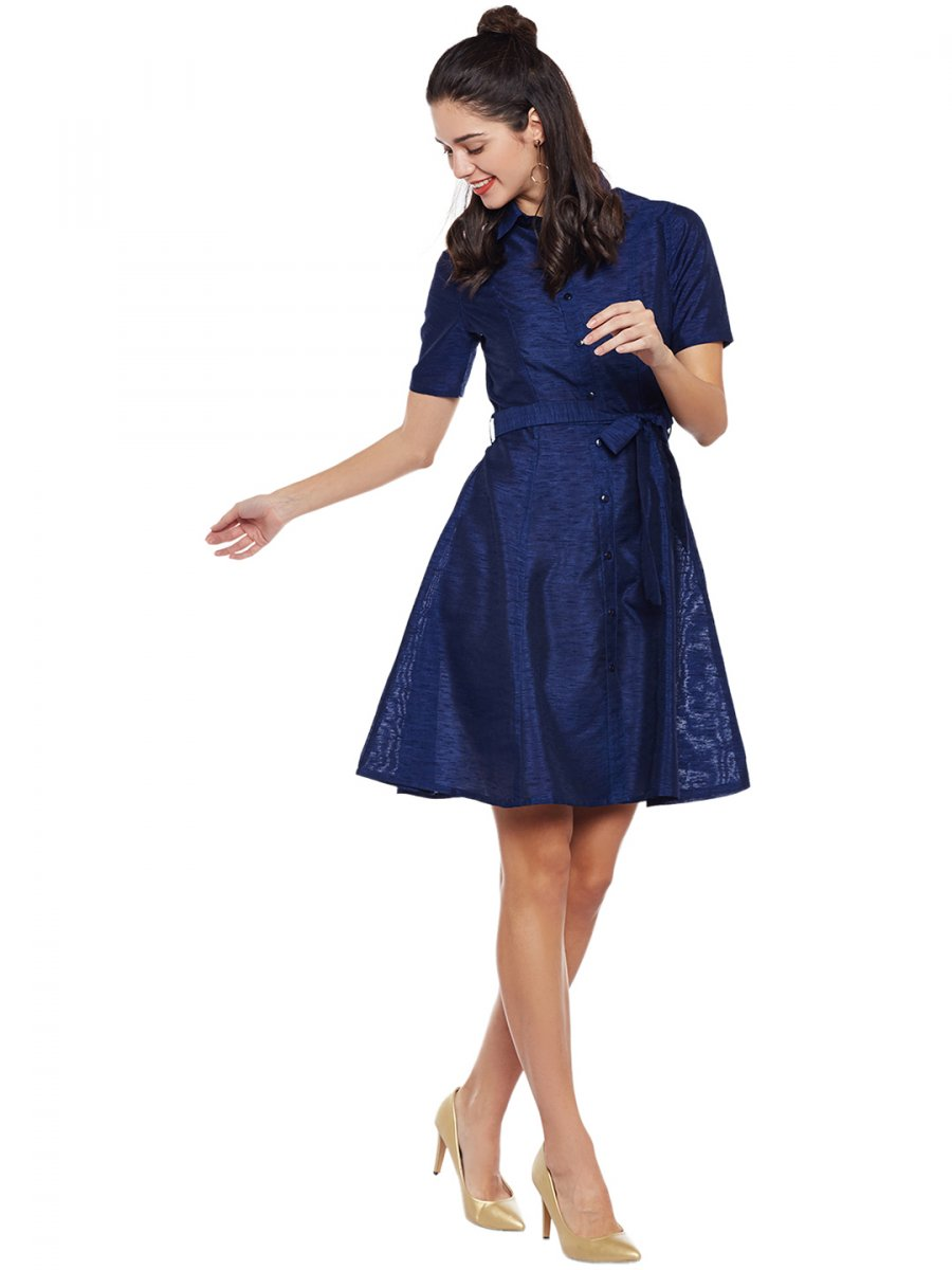 b83d2858073  Lucero Dark Blue Shirt Dress With Tie-Up Belt.  https   static3.cilory.com 304342-thickbox default lucero- View full size