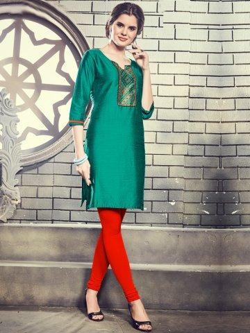 https://static9.cilory.com/315285-thickbox_default/paridhi-green-cotton-silk-printed-kurti.jpg