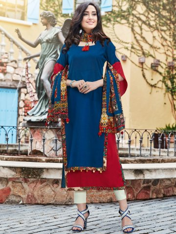 https://static5.cilory.com/323518-thickbox_default/dazzle-blue-red-linen-kurti-with-printed-stole.jpg