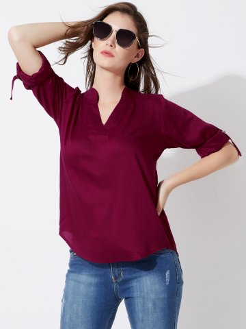 https://static.cilory.com/347858-thickbox_default/estonished-wine-v-neck-high-low-blouse.jpg