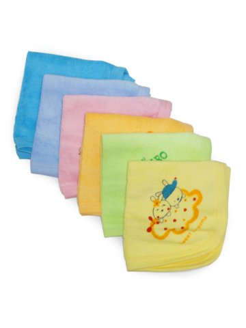 Pumpoosh Multicolor Face Napkins  Pack of 6