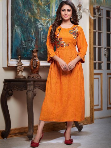 https://static1.cilory.com/383502-thickbox_default/two-tone-orange-bell-sleeves-embroidered-kurti.jpg