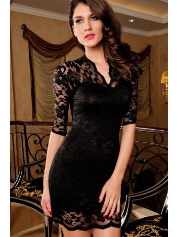 https://static6.cilory.com/39433-thickbox_default/ladies-v-neck-mini-slim-lace-dress-clubwear-half-sleeves-black.jpg